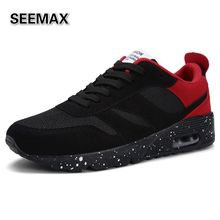Super Light Running Shoes Men's 2016 Sports Run Sneakers Air Cushion High Quality Mesh Breathable Baskets All Black White Red