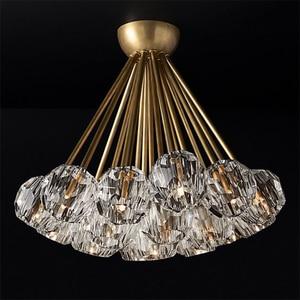 Image 1 - Yeni kristal modern avize abartılı bakır İskandinav restoran oturma odası yatak odası dekorasyon lamba