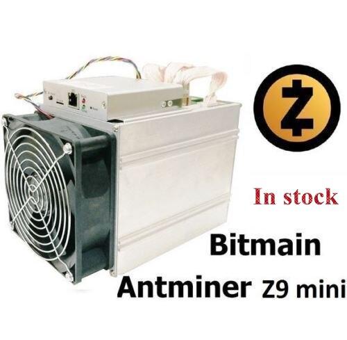 Envío en 24 horas más nuevo ZCASH Miner Bitmain Antminer Z9 Mini 10 k Sol/s 750 W Asic Equihash Miner con fuente de alimentación de 300 W