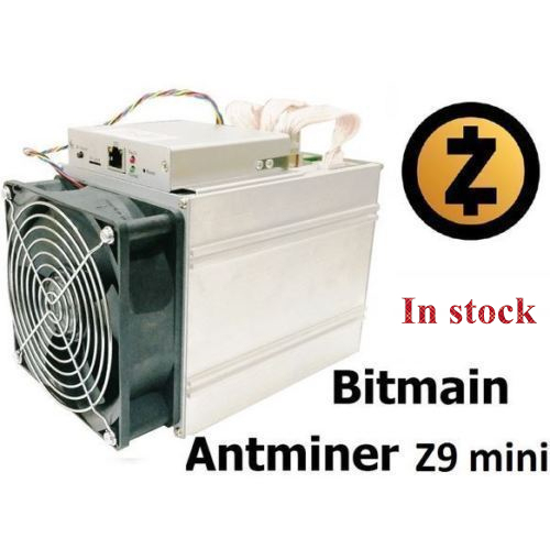 Ship in 24 hours New ZCASH Miner Bitmain Antminer Z9 Mini 10k Sol/s 300W Asic Equihash Miner With 750W Power Supply