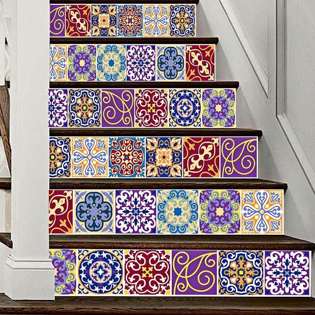 Online Shop 6pcs 3d Tile Stickers Diy Tile Decals Mexican