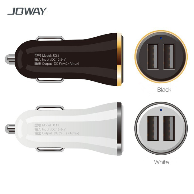 promo code 5ebfb 1cd80 US $2.48 45% OFF|JOWAY Dual USB Car Charger 2.4A Fast Charger For Iphone 6s  6 plus SE for Samsung Xiaomi Mobile Phones Tablets Car USB Charger -in Car  ...