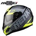 (1pc&10colors) Double Lens Fiberglass Material Helmet Brand Nenki 856 Motorcycle Full Face Helmets Moto Capacete Casco