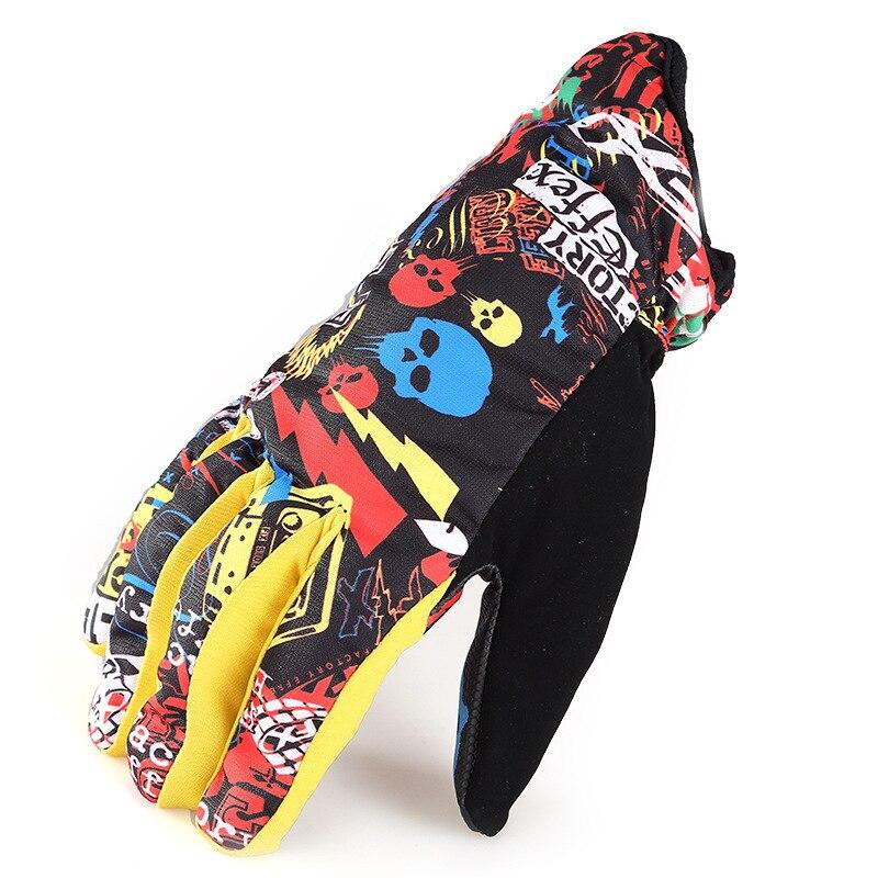 Prix pour Snowboard gants points doigt doigts double plaque ski gants chaudes et imperméables couleur snowboard hommes