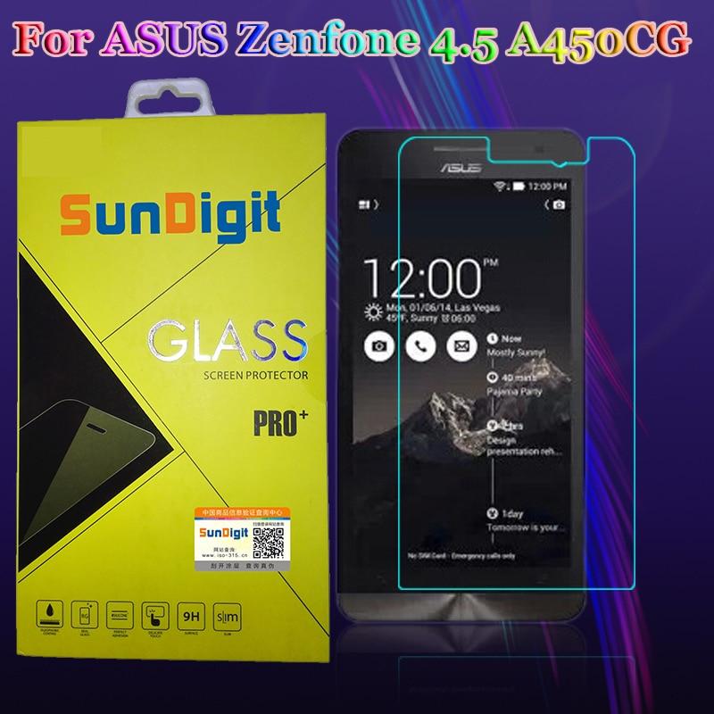 Sundigit нанометр 9 H 0.26 мм для Asus Zenfone 4.5 A450CG закаленное Стекло Экран протектор Защитная Плёнки Сталь Плёнки