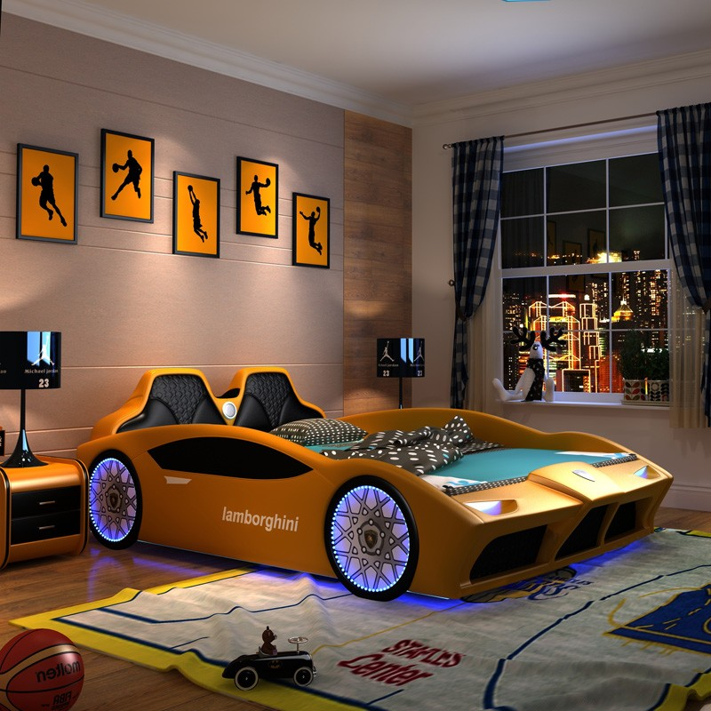 Queen size race car bed