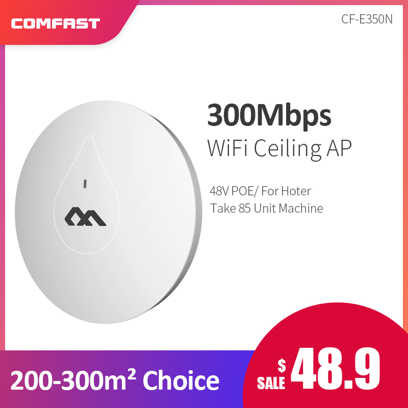 COMFAST CF E350N Through Wall Powerful 300M Indoor Ceiling AP 48V Poe Adapter Wifi Router Access