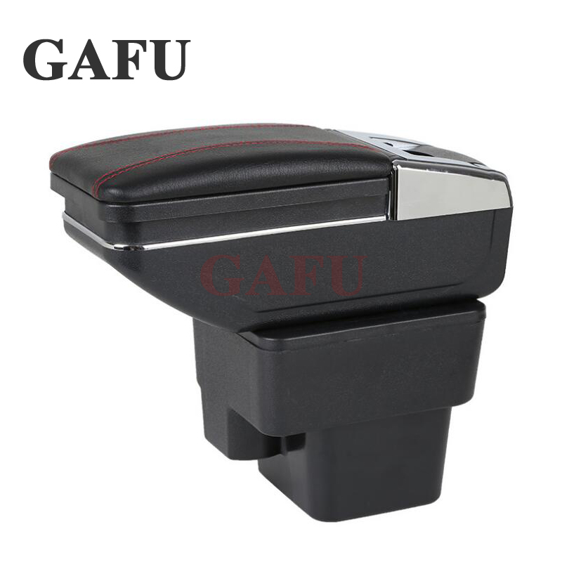 Car-Styling For KIA Rio 4 x-line 2018 Car Armrest Box Central Store Content Box With Cup Holder Products Interior Car Accessory car armrest for kia k2 rio 2011 2016 central store content storage box with cup holder ashtray accessories car styling abs