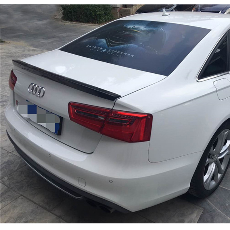 C7 A6 Spoiler S6 Style Carbon Fiber Spoiler Rear Trunk Wing For Audi A6 C7 / 4G 2012 - UP Fit 4-Door Sedan Only