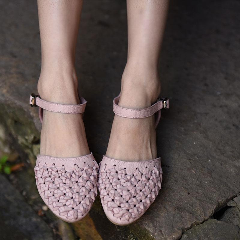 Sandalias Mujer Artmu Pu Sandales Creux En out Cuir Gladiateur rose Chaussures D'origine Solf Main Véritable Femmes Semelles Zapatos Ciel ppxqPgwSZ