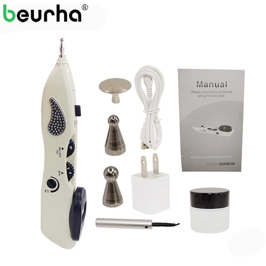 Beurha Acupuntura Ручка детектор электронные Acupuntura Массаж Боль терапия, электро-Акупунктуры Меридиан ручка здравоохранения