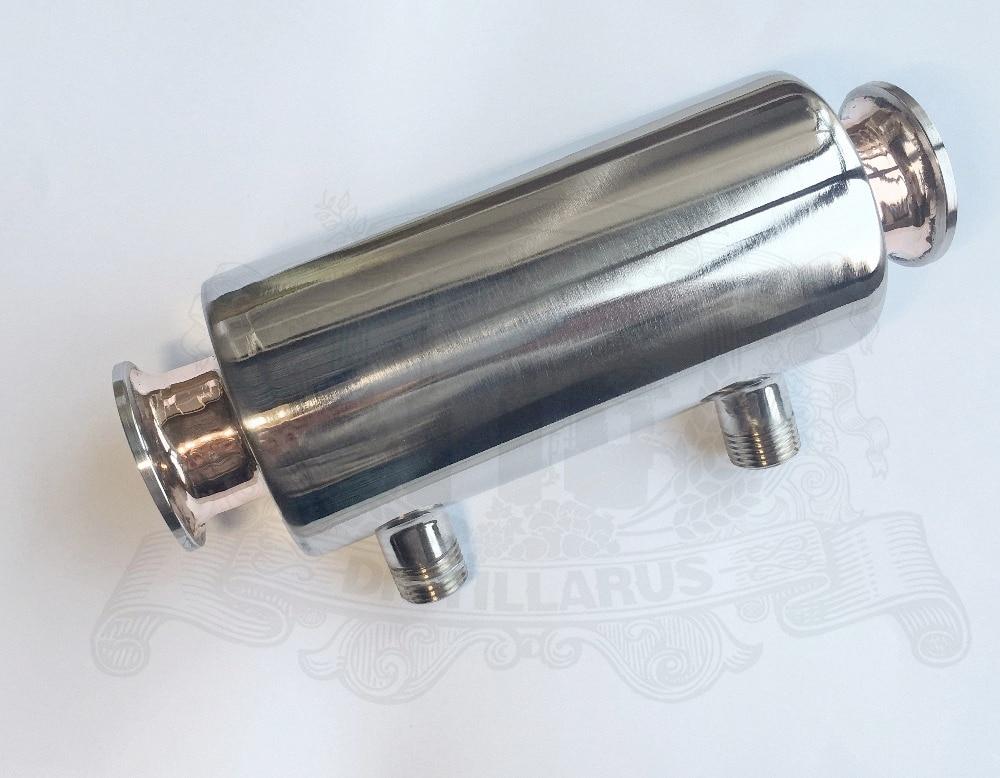 NEW 1.5 Direct flow  Dephlegmator / Reflux Stainless steel 304 with copper inside , tri-clamp connection OD50,5 фильтр для воды kristal filter diamond direct flow 400