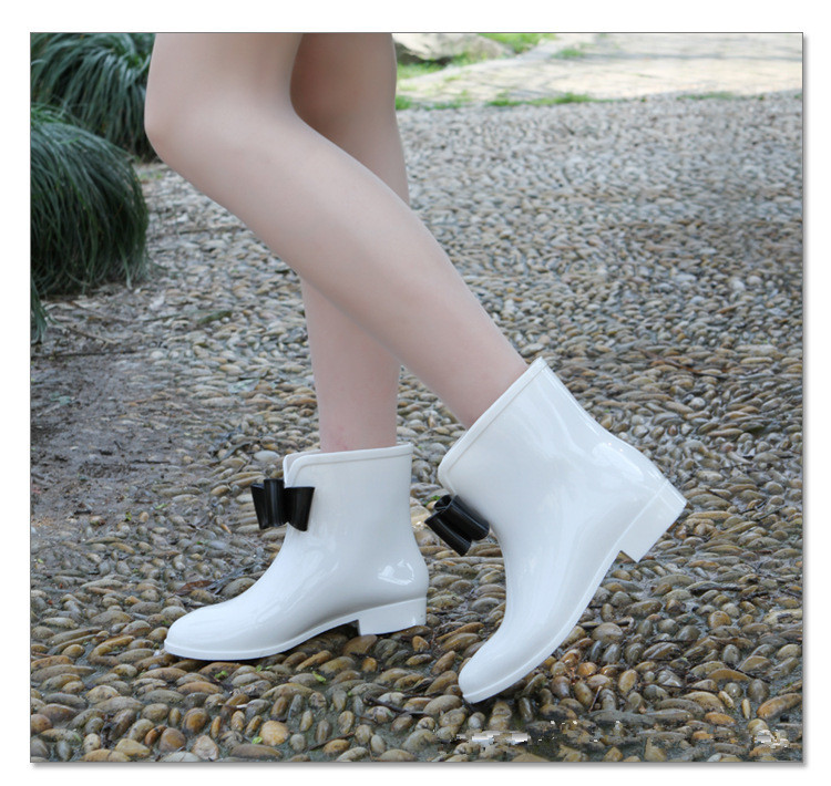 Online Shop New Women's rain boots,female Cute Short Bow Bowknot ...