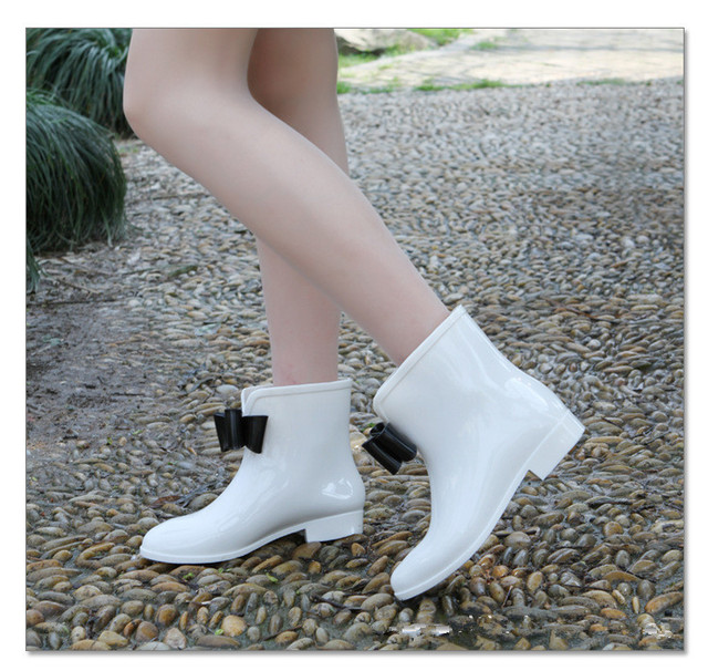 Aliexpress.com : Buy New Women's rain boots,female Cute Short Bow ...