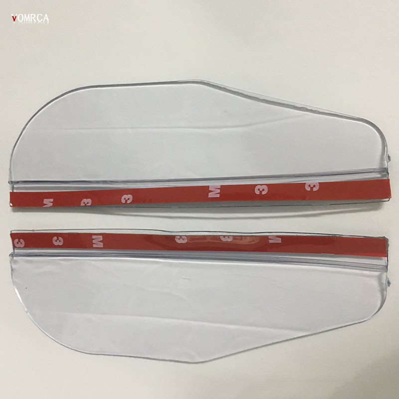 2pcs Universel PVC rétroviseur étanche à La Pluie de lames rétroviseur voiture sourcils Cover 2019