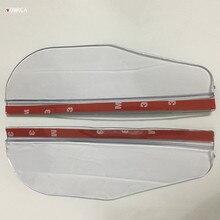 2Pcs/pair Universal Flexible PVC Car Accessories Rearview Mirror Rain Shade Rainproof Blades Car Back Mirror Eyebrow Rain Cover