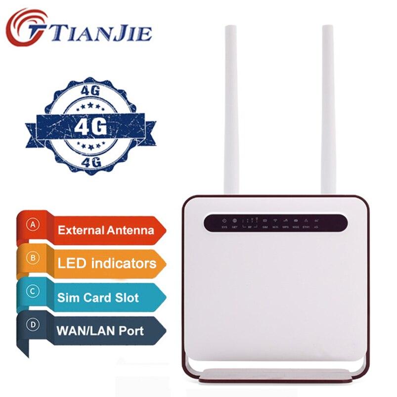 TianJie 4G LTE Wifi Routeur CPE Repeater Modem Mobile Hotspot Sans Fil À Large Bande Avec SIM Solt Wi fi Routeur Passerelle