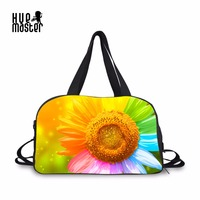 Travel Bag Sunflower Coral 3D Pattern Duffle Bags Handbag Travel Casual Shoulder Independent Shoes Position Large