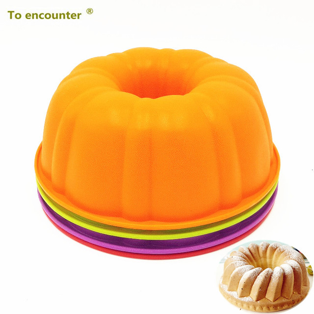 To encounter 25*9CM 205G Colorful Pumpkin Shape 3D Silicone Cake Mold Baking Dishes Cake Pans DIY Baking Tools For Bakeware