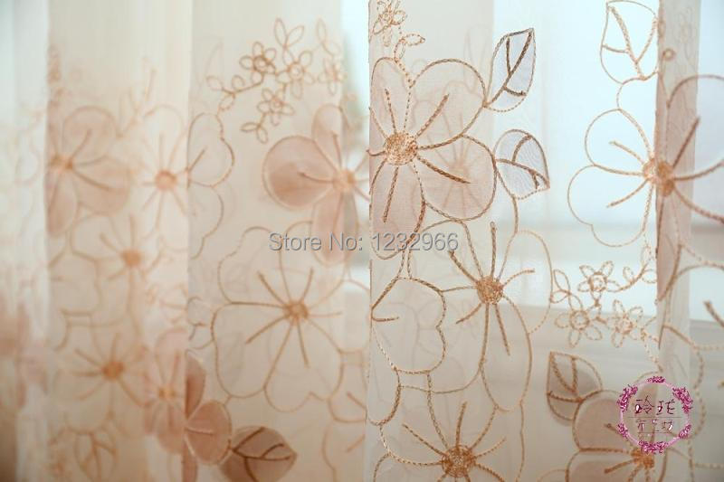 Aliexpress buy embroider curtain viole floral modern aliexpress buy embroider curtain viole floral modern embroidered embroidery curtain window cloth linen sheer voile curtains from reliable cloth napkin ccuart Gallery