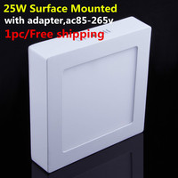 1pc free shipping 25W Surface Mounted LED Ceiling Light Panel Light Down Spot Light 85 265V Warm White/White/Cold White LED Lamp