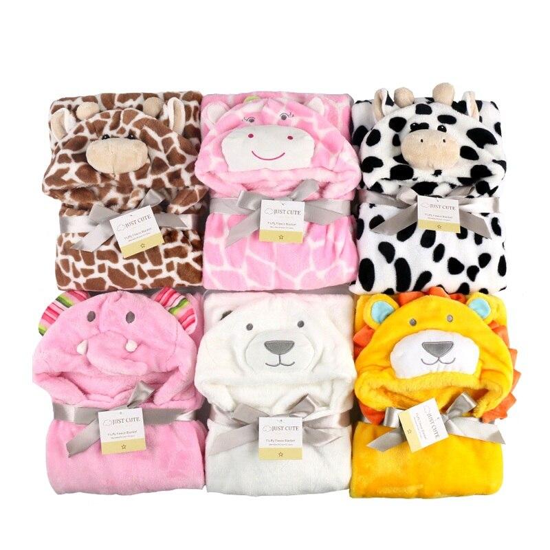 3D одеяло для новорожденных детский банный халат с мультяшными животными
