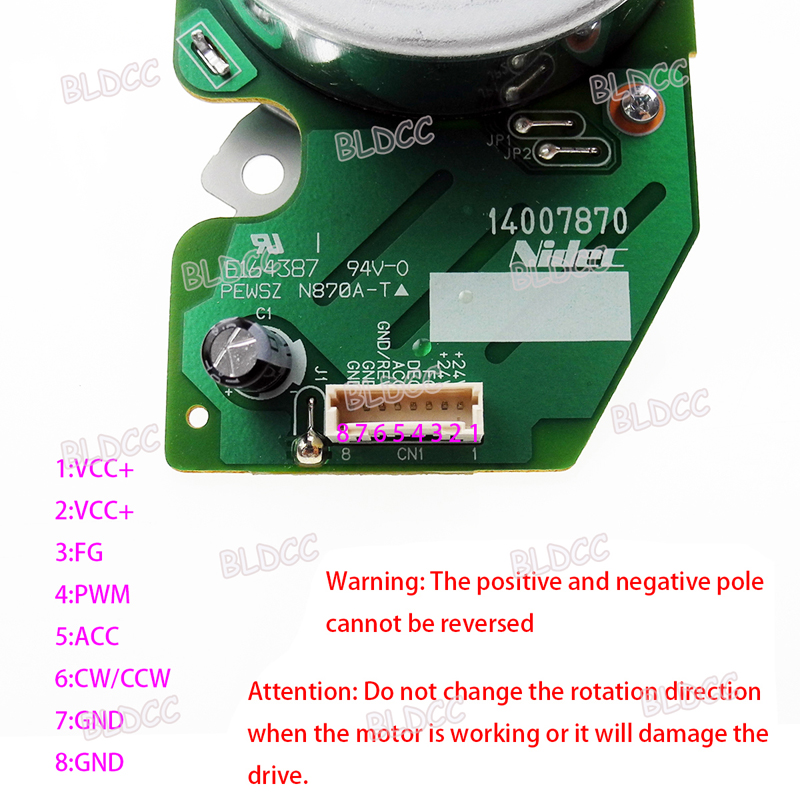 NIDEC 42F706L010 DC24V Dual Shaft Outer Rotor Brushless Motor DIY Printer DC Fan