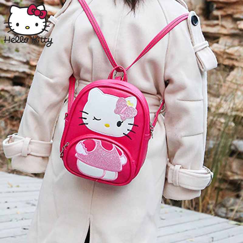 2019 Hello Kitty Mouse Bag Children Girls School Bag Backpack Children Girls Cute Kids Boy New PU Cartoon Kindergarten Bags in Plush Backpacks from Toys Hobbies