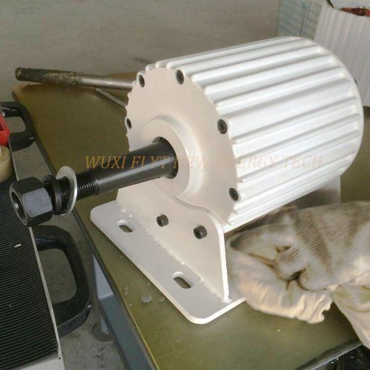 Aimant permanent générateur 1kw ac 24 v/48 v/96 v/110 v avec base/sans base faible RPM 50 hz trois phase