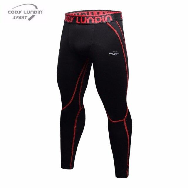 40d8ec1b3d060 Men Workout Fitness Compression Leggings Pants Down MMA Crossfit Weight  Lifting Bodybuilding Skin Pantyhose Pants