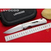 Locovoo механик Новое поступление Флиппер складной нож M390 лезвие Титан ручка Открытый Отдых Охота Карманные Ножи EDC инструменты
