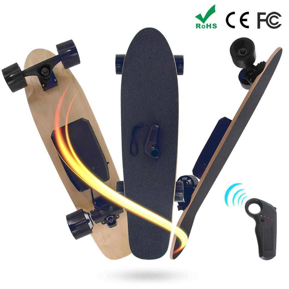 New 7 Layers Maple Cruiser Skateboard Electric Single Motor Longboard Children Become Warped Road Skate Board