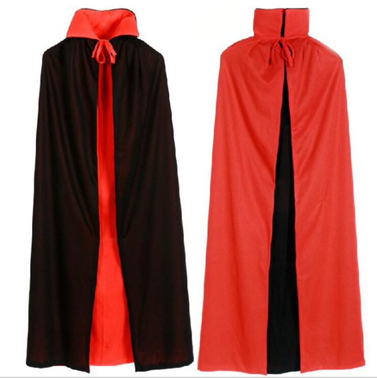 Halloween costume adult children cloak death show black red double cloak vampire COS masquerade
