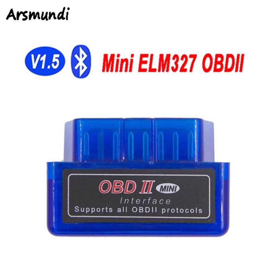 Prix pour 1 PC Super Mini OBDII ELM-327 V1.5 Bluetooth Interface ELM327 V 1.5 OBD2 Adaptateur Scan ELM 327 Auto Scanner OBD 2 Outil De Diagnostic