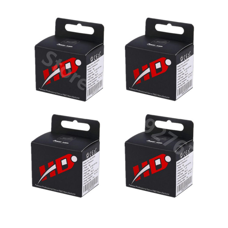 4pcs Orginal Power HD High Torque 60G Standard Servo HD-1501MG Steering Analog Servos Metal Gear 17KG For Car Robot RC Airplane image
