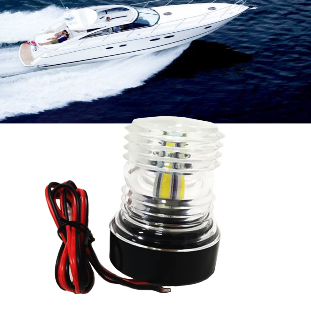 Marine Hardware Beler Car Abs Led Light Electronic Navigation Compass Fit For Marine Boat Sail Ship Vehicle Car Confirming Navigation Directions Pure White And Translucent