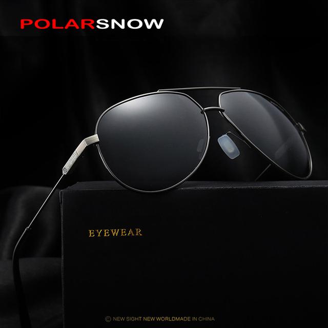 POLARSNOW Mens Polarizadas Clásicas gafas de Sol de Calidad Superior 2017 Nuevo Marco de Aleación de Gafas de Sol Para Los Hombres Diseñador de la Marca UV400 Gafas