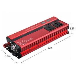 Image 5 - 2000 W Auto Inverter Dual LCD Spannung Display 12 v zu 110 v Power Inverter 4 USB Ladegerät Auto Power inverter Dual AC Stecker