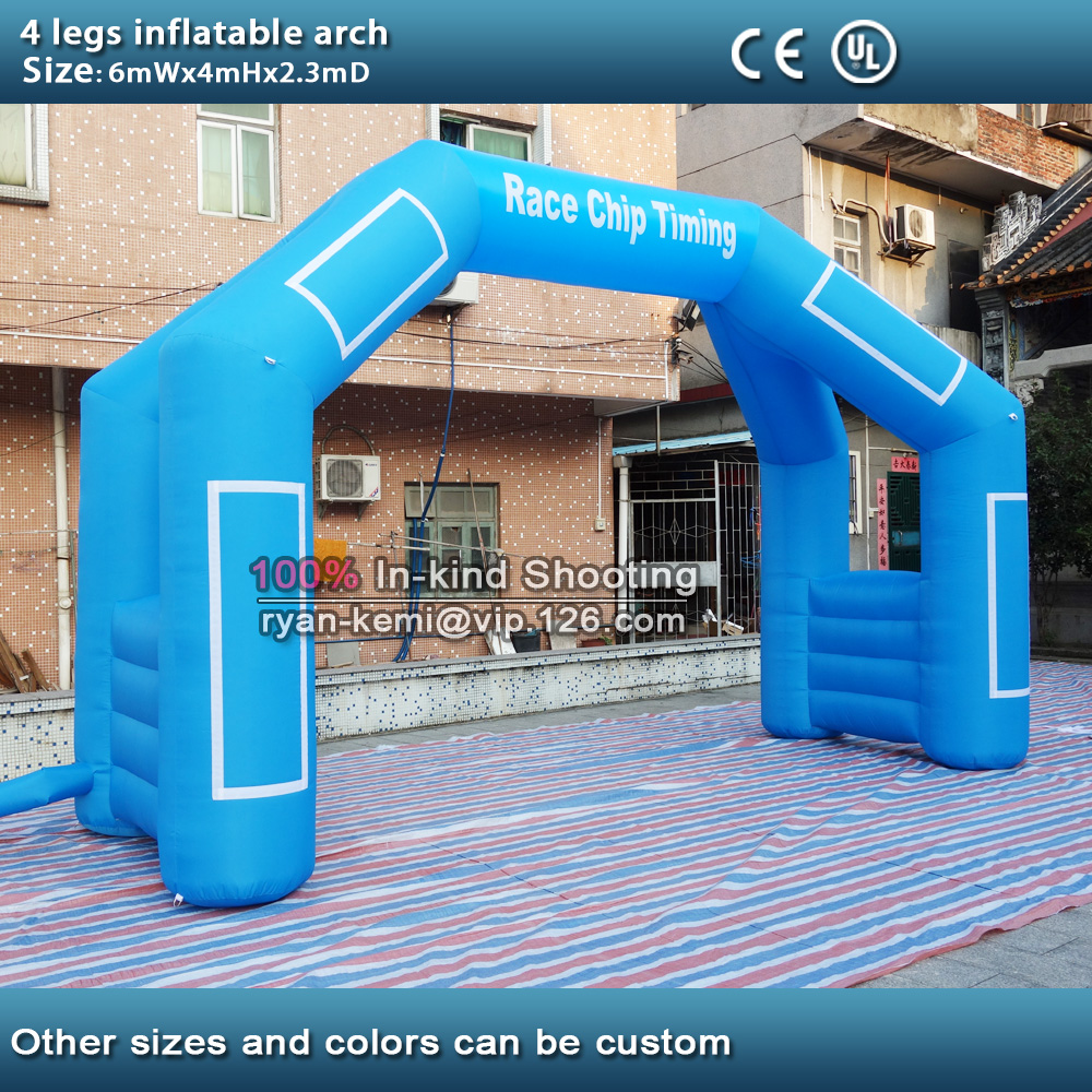 Free shipping 6m 20ft 4 legs inflatable arch inflatable start finish line racing arch with blower 6m 20ft 2 legs inflatable air dancer sky dancer for advertising free shipping 2pcs 950w blower with light