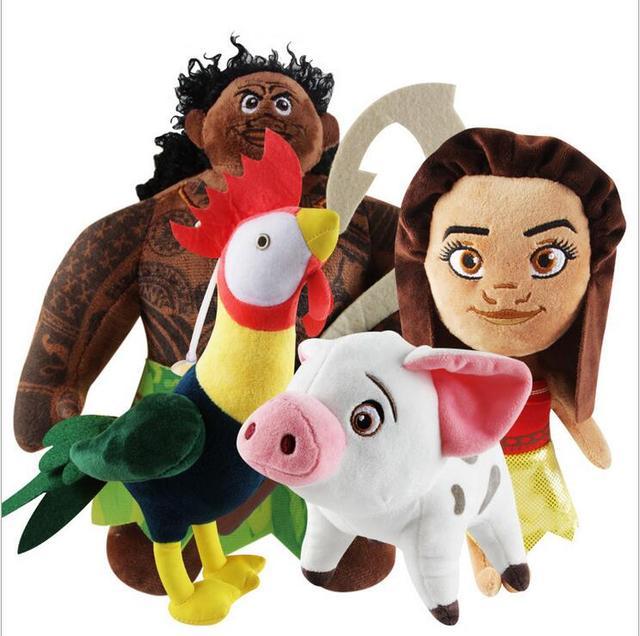 New Kawaii 20cm Moana Waialiki & Pig Pua Plush Dolls Princess Toys