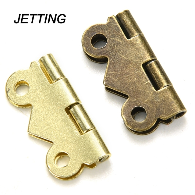 JETTING 10pcs 20mm X17mm Bronze Gold Silver Mini Butterfly Door Hinges  Cabinet Drawer Jewellery Box Hinge