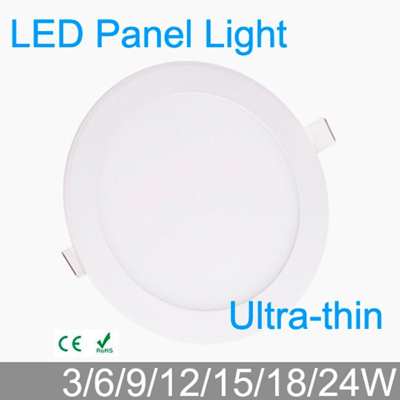 3W 4W 6W 9W 12W 15W 18W 24W LED Grid Downlight Round LED Panel Ceiling Painel Light Fixtures Lamp 4000K For Bathroom Luminaire