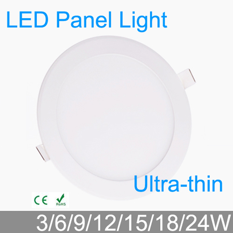3 W 4 W 6 W 9 W 12 W 15 W 18 W 24 W LED grille downlight panneau de LED ronde plafonnier luminaires lampe 4000 K pour luminaire de salle de bain