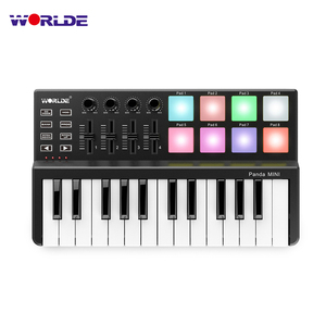 Image 2 - WORLDE Panda MINI 25 Key Ultra Portable USB MIDI Tastatur Controller 8 Bunte Backlit Trigger Pads