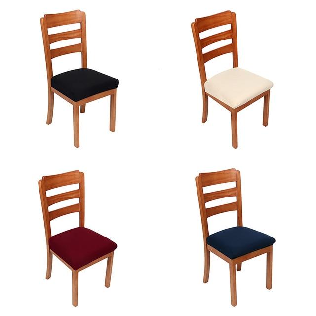 Спандекс, жаккард сплошной цвет Современный домашний декор накидка на стул эластичная стрейч хорошие слипоны Банкетный короткий Чехол для стула для офиса