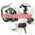 Conjunto completo de chave Cap Gas tampa de combustível da motocicleta ignição bloqueio Fit HONDA Steed400 600 VT600 VT750 Shadow400 750 Magna250