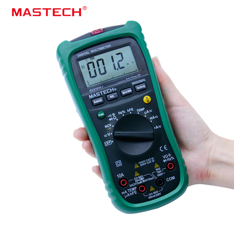 MASTECH MS8260G Auto Range Digital Multimeter ohm voltage and current Capacitance Frequency Temperature Meter цена