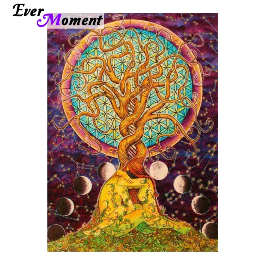 Us 9 17 38 Off Psychedelic Art Tree Of Life 5d Diy Diamond Painting Cross Sch Embroidery Full Mosaic Kit Asf769 In