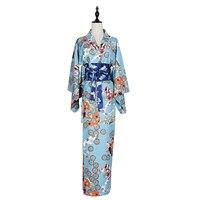 2017 Autumn Japanese Kimono Vintage Original Tradition Silk Yukata Dress With Obi Sexy Costumes