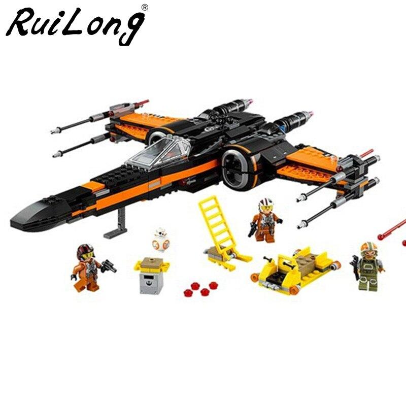 Star Wars Auftrag Poe der X Spielzeug flügel Fighter Baustein Ziegel 05005 75102 Pädagogisches Geschenk Kompatibel Mit LegoINGLY StarWars